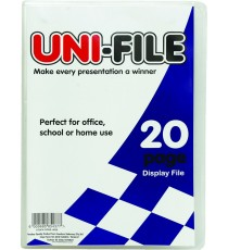 Uni-File Hard Cover Display Books 20 pocket