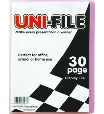 Uni-File Hard Cover Display Books 30 pocket