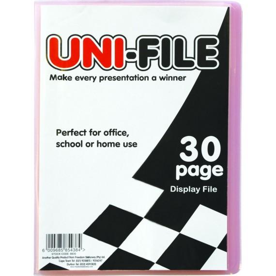 Uni-File Hard Cover Display Books 30 pocket