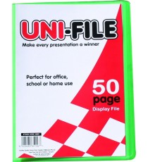 Uni-File Hard Cover Display Books 50 pocket