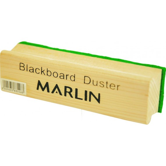 Marlin Chalkboard duster - wooden with green felt