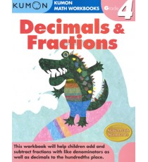 KUMON Math Workbooks Grade 4:Decimals & Fraction