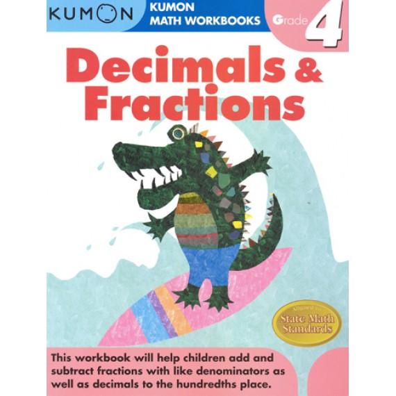 KUMON Math Workbooks Grade 4:Decimals & Fraction