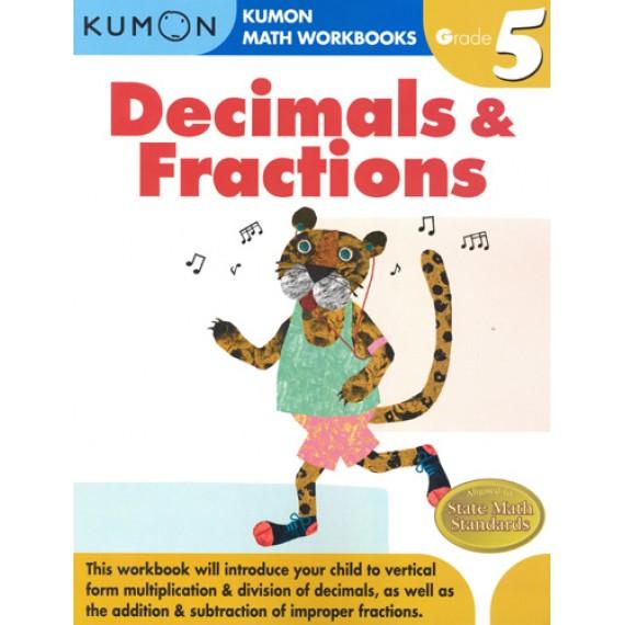 KUMON Math Workbooks Grade 5:Decimals & Fraction
