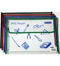 Marlin PVC pouch / book bag 36 x 24cm with Velcro fastener