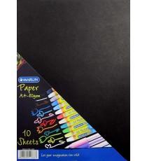 Marlin paper A4 80gsm 10's - Black