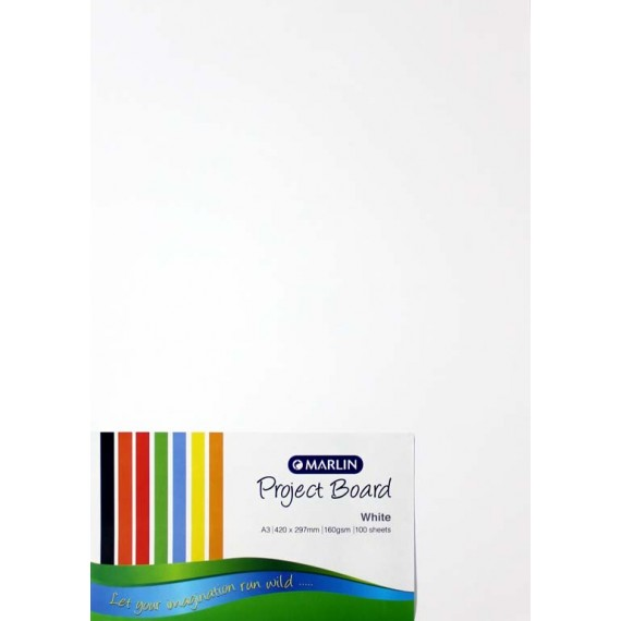 Marlin Project Boards A3 160gsm 100's White