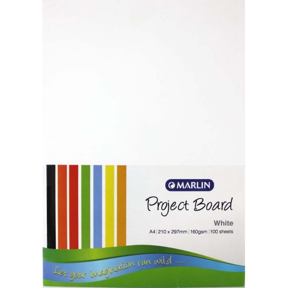 Marlin Project Boards A4 160gsm 100's White