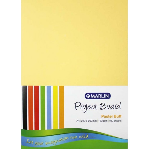 Marlin Project Boards A4 160gsm 100's Pastel buff