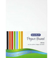 Marlin Project Boards A4 160gsm 50's White