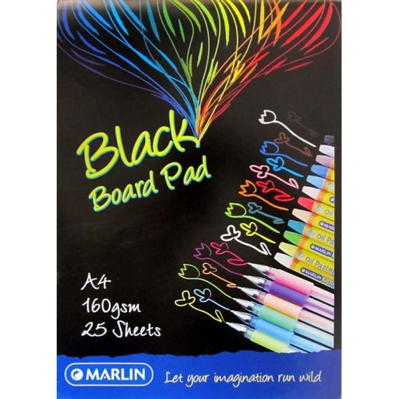 Marlin Project Board pad A4 25 sheets 160gsm Black