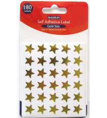 Marlin self adhesive labels - 180 Gold stars