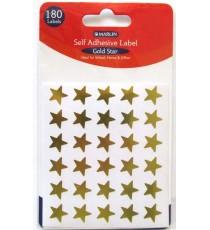 Marlin self adhesive labels - 180 Gold stars