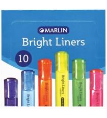 Marlin Bright Liners Highlighter 10's Green