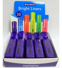Marlin Bright Liners Highlighter 10's Purple