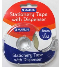 Marlin snail tape with dispenser crystal clear 18mm x 33m x 38micron