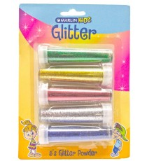 Marlin Kids Glitter 7g 5's (Blue, Green, Red, Gold & Silver) blister card