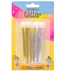 Marlin Kids Glitter 7g 2's (Gold & Silver) blister card