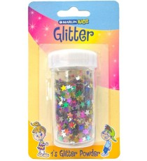 Marlin Kids Glitter Stars assorted 10g blister card