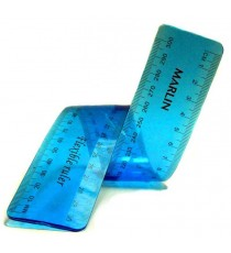 Marlin Flexible rulers 30cm 4 assorted colours (Blue, Green, Pink & Yellow)