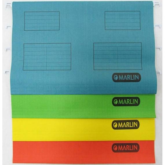 Marlin Suspension Folders 25's Foolscap Yellow