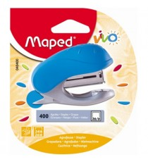 Maped Vivo Pocket Stapler 15-Sheet + Free Staples