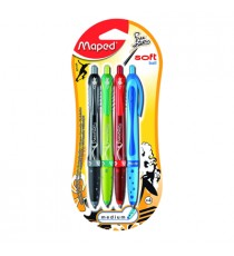 Maped Freewriter Retractable Pen 4x Assorted (Card)