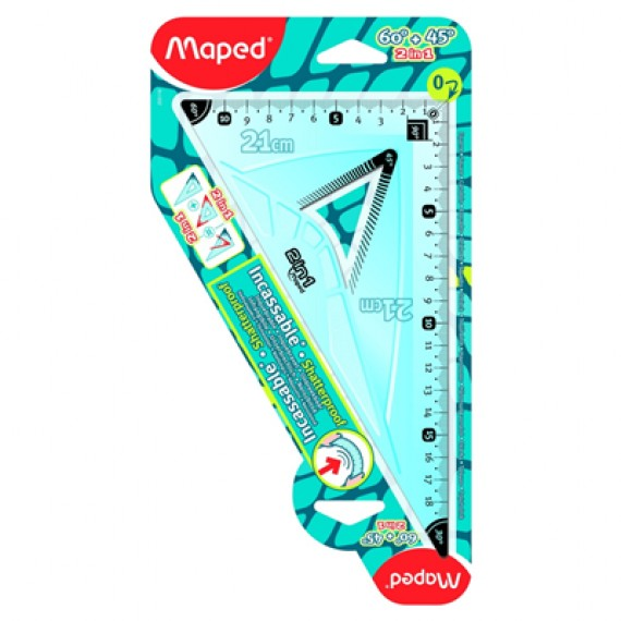Maped 2 In 1 Set Square (45 and 60 Degree)