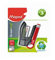 Maped Greenlogic Mini Stapler 25-Sheet + Free Staples