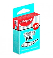 Maped White'peps Chalk - White (Box of 10)