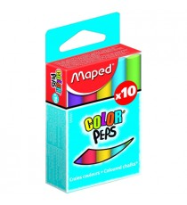 Maped Color'peps Chalk - Coloured (Box of 10)