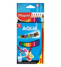 Maped Color'Peps Aquarellable Pencils 12 + Paintbrush