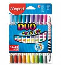 Maped Color'Peps Duo's Felt Tip Pens 20 Colours 10's