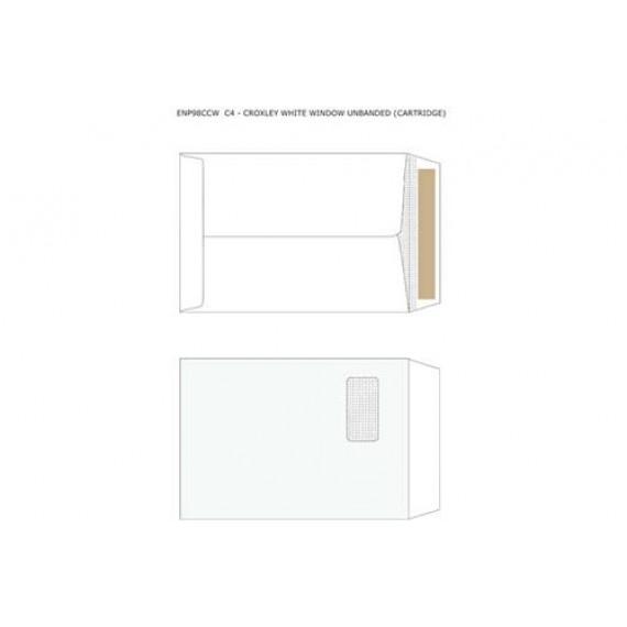 C4 CROXLEY WHITE WINDOW UNBANDED (CARTRIDGE)  ,BOX-250
