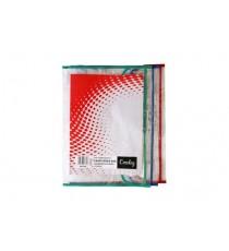 CROXLEY  BOOK BAG PVC ASSORTED COLOURS PK12