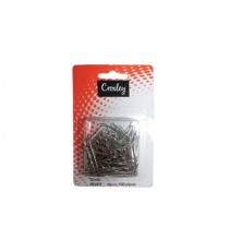 CROXLEY 30MM PAPER CLIPS  SILVER CARDED 100