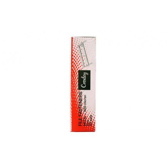 CROXLEY 320MIC FILE FASTENERS BOX 50