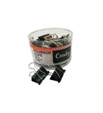CROXLEY 32MM BLACK FOLD BACK CLIPS 24s