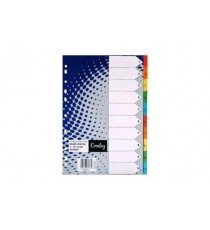 CROXLEY BRIGHT BOARD DIVIDERS 160GSM 1-10 10 DIVISION ,EACH