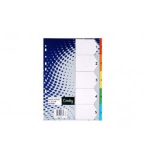 CROXLEY BRIGHT BOARD DIVIDERS 160GSM 1-5 5 DIVISION ,EACH