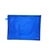 CROXLEY BRIGHT PVC NEON BOOK BAGS EACH BLUE
