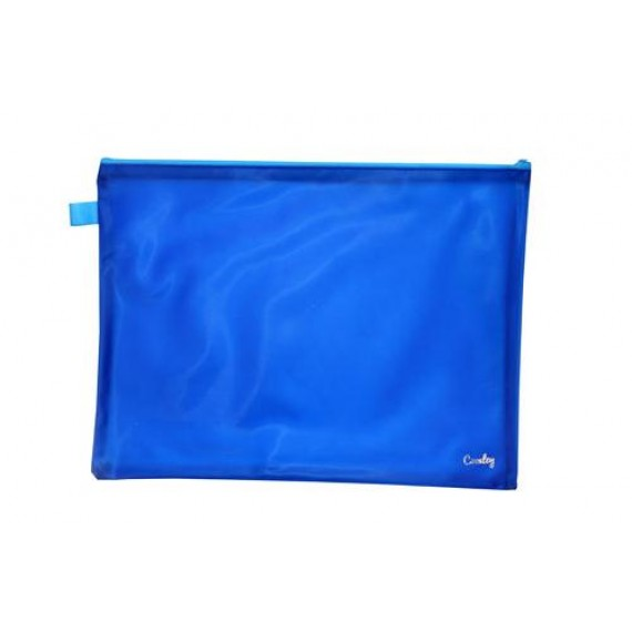 CROXLEY BRIGHT PVC NEON BOOK BAGS EACH BLUE