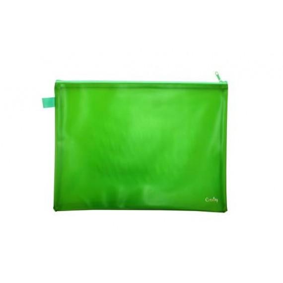 CROXLEY BRIGHT PVC NEON BOOK BAGS EACH GREEN