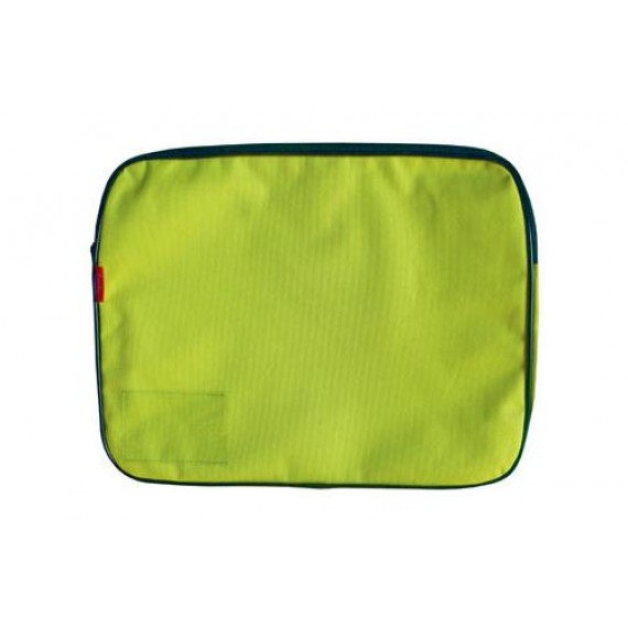 CROXLEY CANVAS GUSSET BOOK BAG EACH LIME GREEN