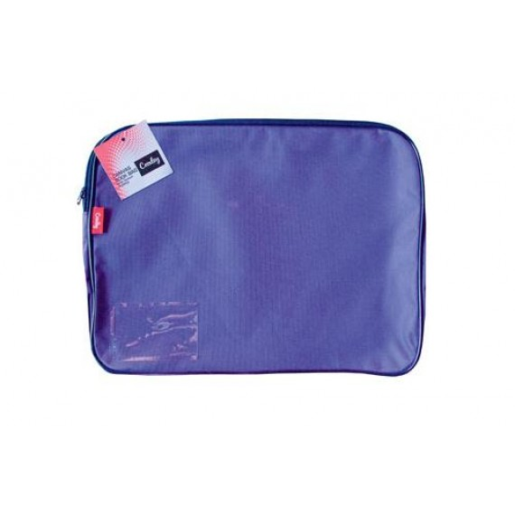 CROXLEY CANVAS GUSSET BOOK BAG EACH PURPLE