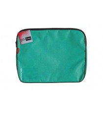 CROXLEY CANVAS GUSSET BOOK BAG EACH TEAL GREEN