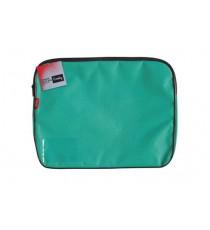 CROXLEY CANVAS GUSSET BOOK BAG EACH TEAL GREEN