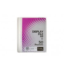 CROXLEY DISPLAY FILE 50 POCKET A4 - HARD CASE COVER