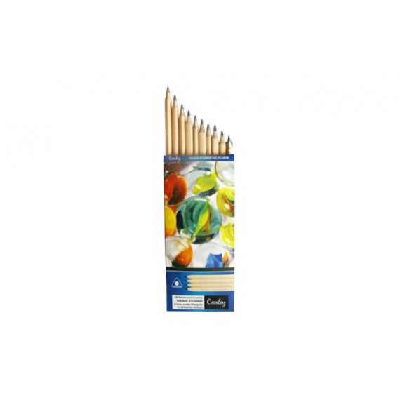 CROXLEY GRAPHITE ENVIRONMENTAL YOUNG STUDENT PENCILS - TRIANGULA BOX10