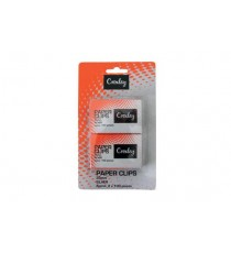 CROXLEY PAPER CLIPS 30MM SILVER 2X100 BOXES ON BLISTER CARD